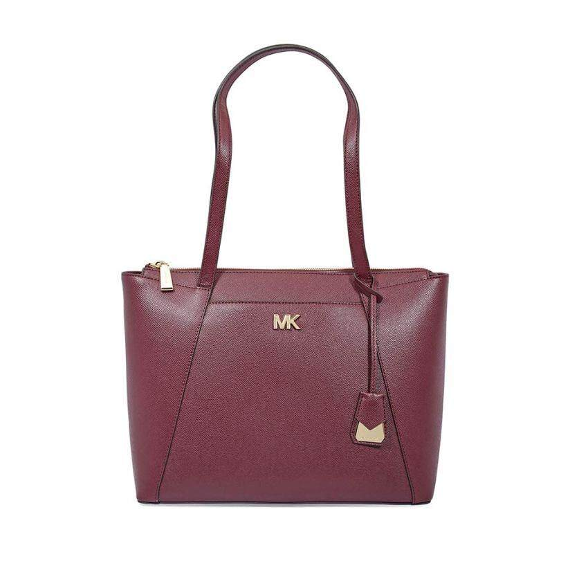 de0c327844ff6e Michael Kors Maddie Medium East/West Leather Tote- Oxblood 30S8GN2T2L-610