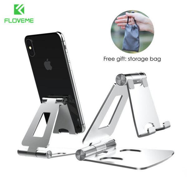 Giá để điện thoại để bàn Floveme, giá đỡ điện thoại rảnh tay chất lượng cao điều chỉnh được góc bằng hợp kim nhôm cho iPhone iPad Xiaomi Samsung