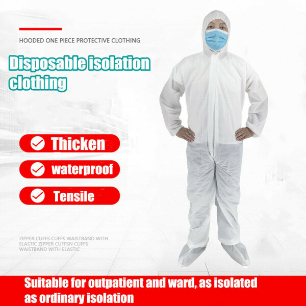 BOBL  Hazmat Suit Anti-Virus Protection Clothing Safety Coverall Disposable Washable F