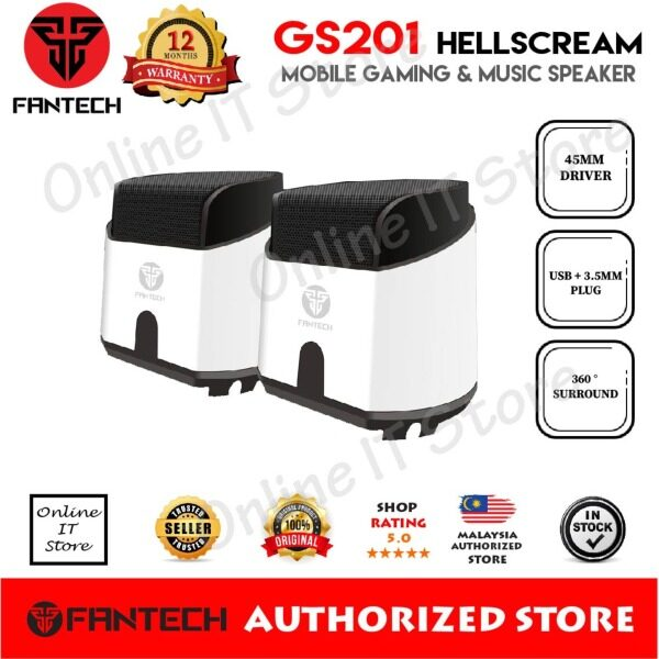 Fantech HellScream GS201 Mobile Gaming and Music Speakers with Bass Resonance Membrane Malaysia