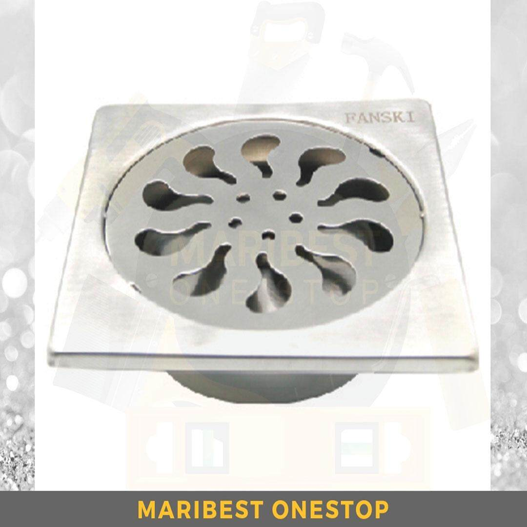 6 X 6 STAINLESS STEEL GRATING WITH FILTER FLOOR DRAIN TRAP ANTI-ODOUR CP600