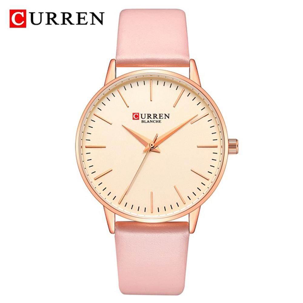 052b878b7 (hot sale) CURREN Fashion Japan Quartz Movement Ladies Watches Leather  Strap Bracelet Women Watch