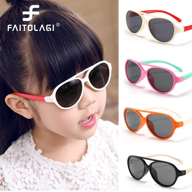 2483d40daa Children Silicone Sunglasses Girls Boys Flexible Eyewear Frame Kids Sun  Glasses