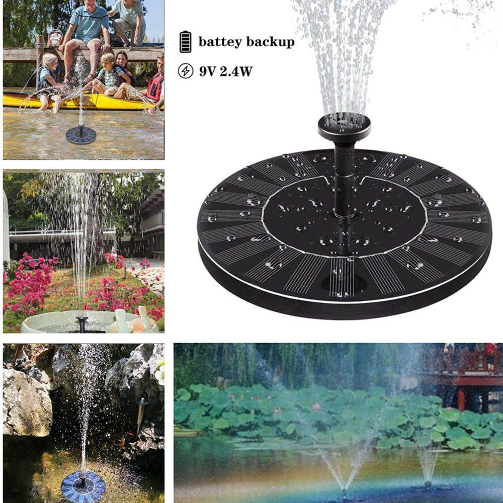 RD Solar Fountain with Electric Storage for Pond Pool Garden Fish 9V 2.4W