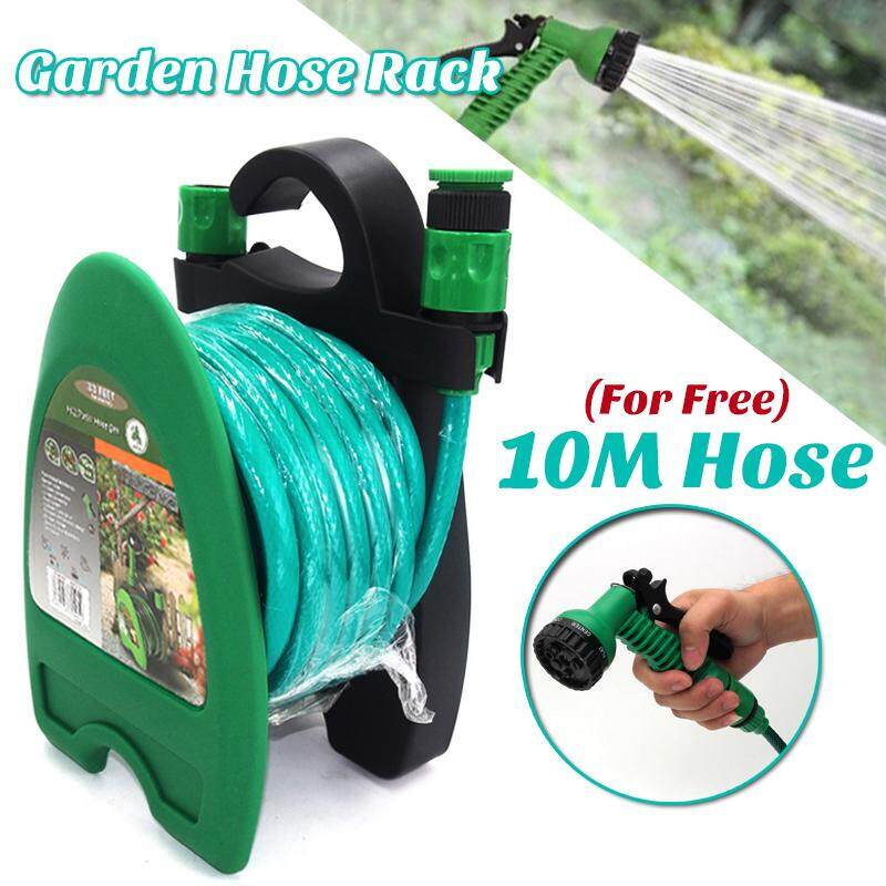 【Free Shipping + Flash Deal 】10m Wall Mounted Hose Reel Rack Portable Storage Clean Cast Hanger Garden Yard NEW