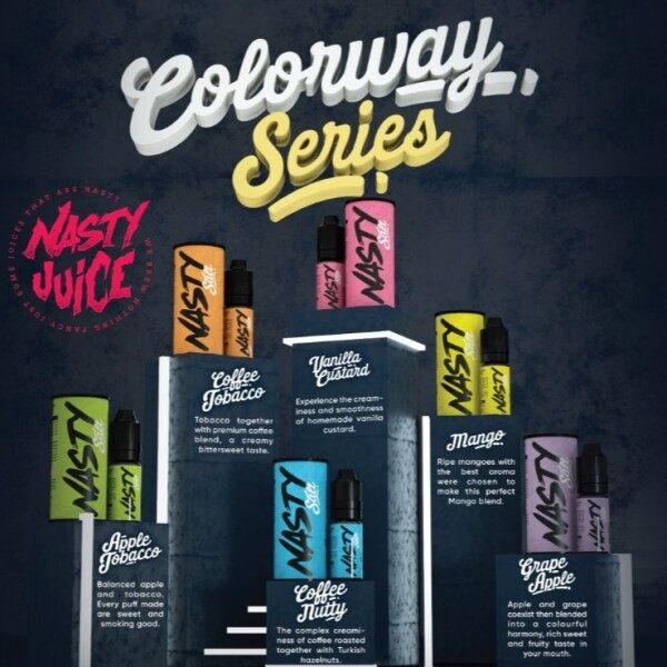 ORIGINAL N A S T Y Colourway (10ml) Pod E-Liquid E-Juice Flavor Vape E-Cig Malaysia