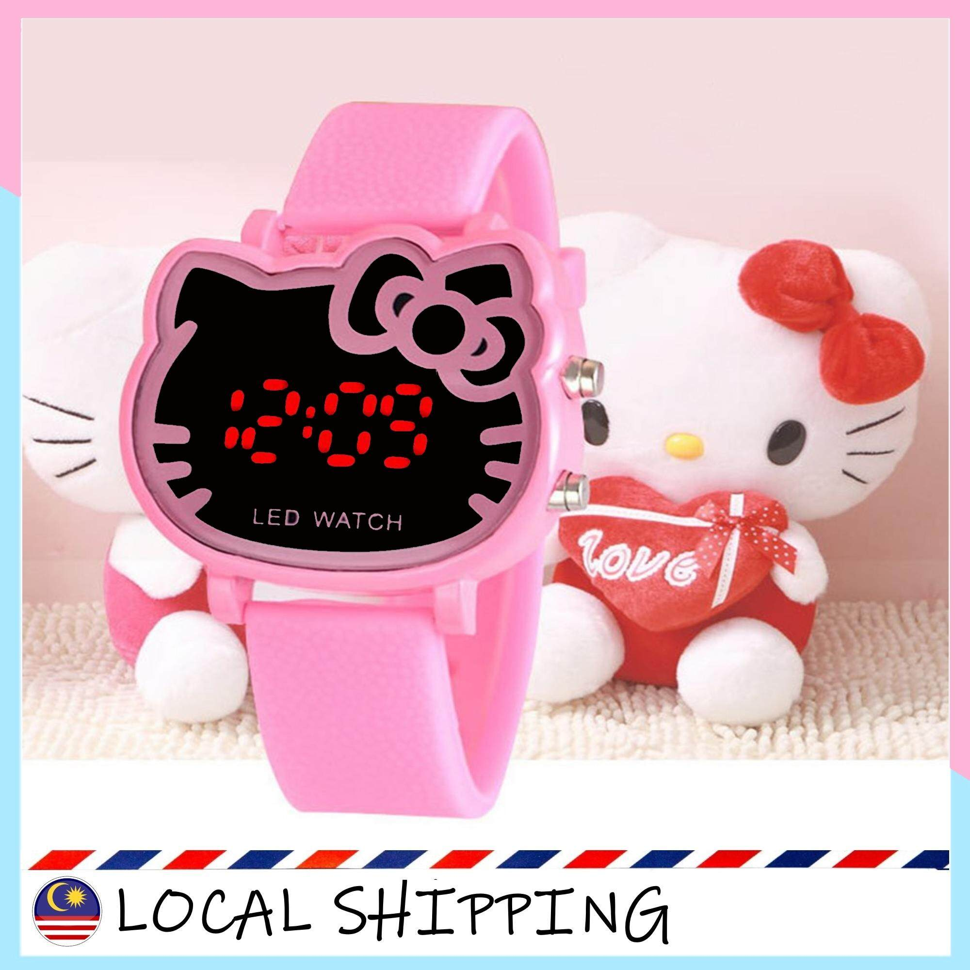 Hello Kitty Waterproof LED Watch Kids Korean Childrens LED Digital Watch Malaysia