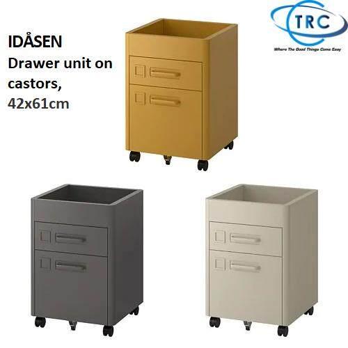 Ready Stock Ikea Idåsen Idasen Drawer Unit On Castors 42x61cm