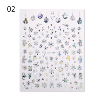 Đề Can Tự Dính Đề Can Chuyển Trang Trí Móng Tay Thiết Kế Màu Bạc Hình Hươu Miếng Dán Móng Tay NGHỆ THUẬT Làm Móng Giáng Sinh thumbnail