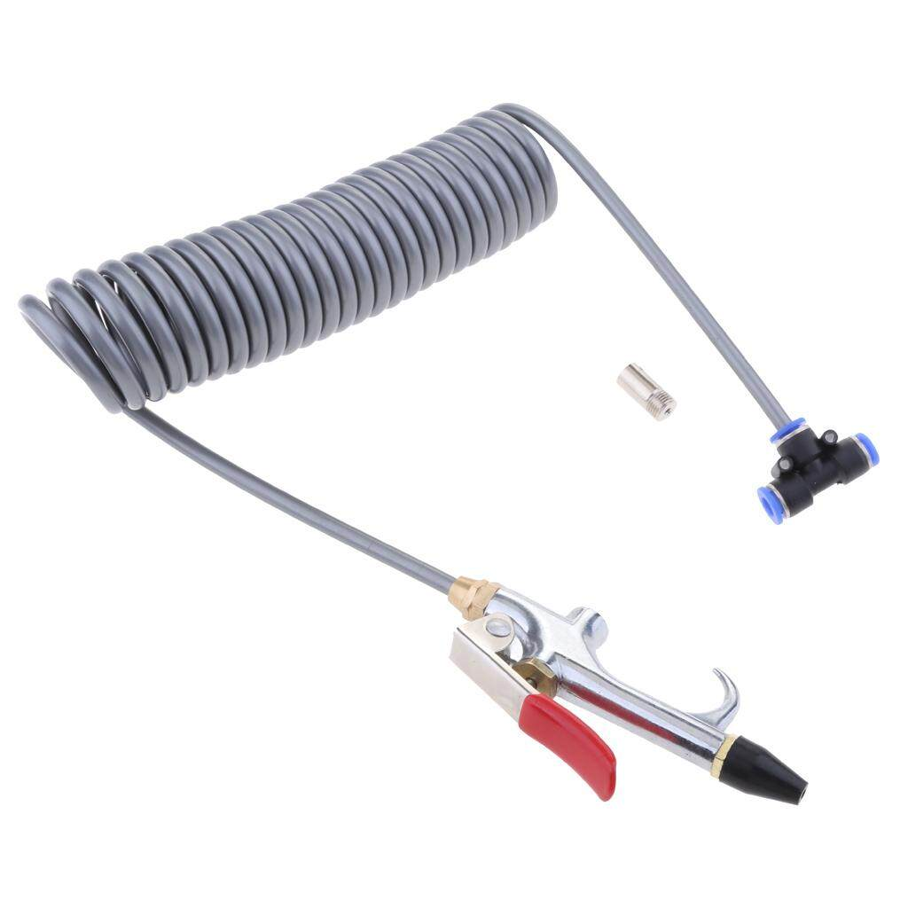 Miracle Shining Air Blower Blow Spray Gun + 3.5m Recoil Hose Dust Blower Clean Nozzle