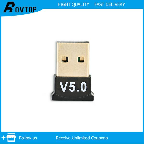 Bảng giá Rovtop Bộ Thu Phát Âm Thanh USB Bluetooth 5.0 Bộ Chuyển Đổi USB Không Dây, Bộ Chuyển Đổi Âm Thanh Bluetooth Cho Máy Tính PC Win 10 8 Phong Vũ
