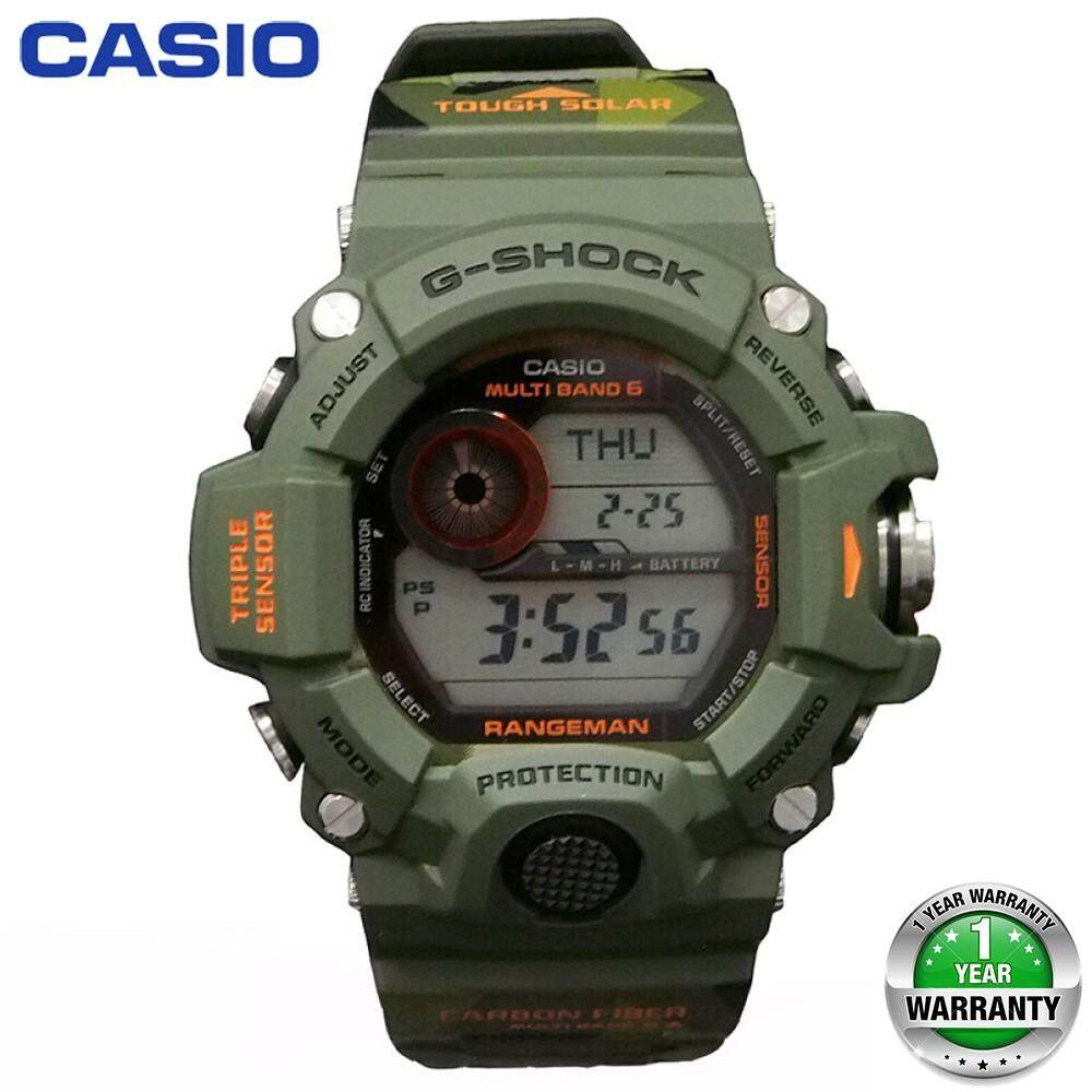 (Ready Stock) Original Casio G Shock_GW-9400 Men Sport Watch Duo W/Time 200M Water Resistant Shockproof and Waterproof World Time LED Auto Light Wist Sports Watch with 2 Year Warranty GW9400/GW-9400 Malaysia