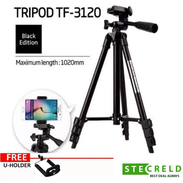 Tripod 3120 Tf3120 Compact Lightweight Aluminum Flexible Universal Travel Stand Tf-3120 / 3120a Extendable Portable Mini Size For Camera Dslr Smartphone Mobile Stand Free Phone Mobile Holder By Starz Tech.