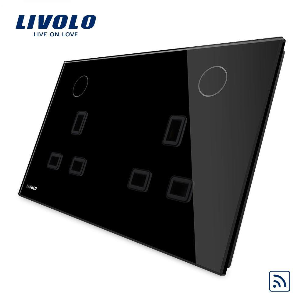 Livolo UK standard double power socket with remote function  ,13A,110-250V,2 color