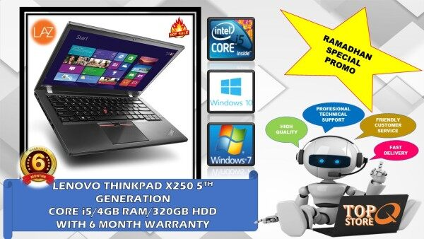 LENOVO THINKPAD X250  [CORE I5 4TH GENERATION/ 4GB RAM/ 320GB HDD] 12.5-INCH 6 MONTH WARRANTY [ LAPTOP ](REMANUFACTURED) Malaysia