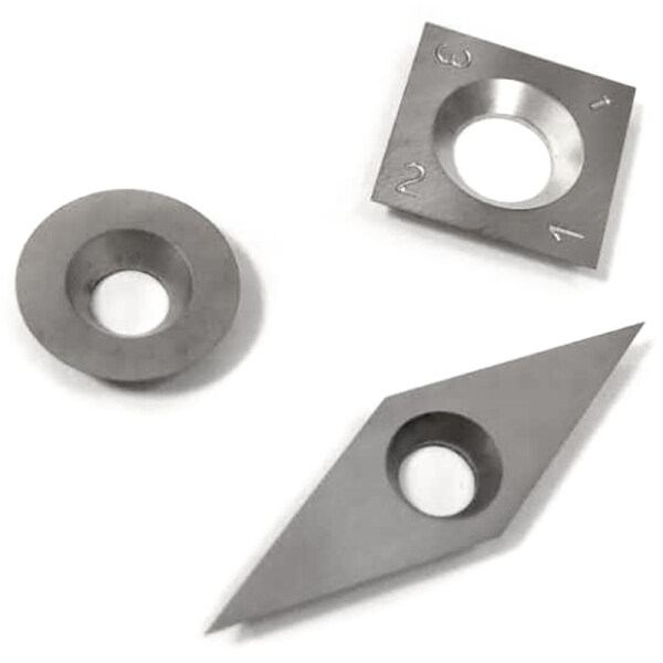 3Pcs Tungsten Carbide Inserts Cutter Set for Wood Turning Working Lathe Tool Machine Tools & Accessories