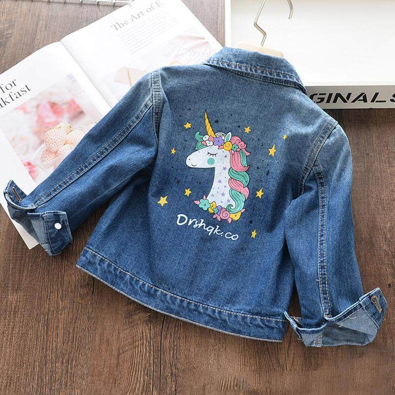 Lifestyler Children Girls Long Sleeved Heart Type Letter Print Coat Fashion Casual Button Jacket Outwear