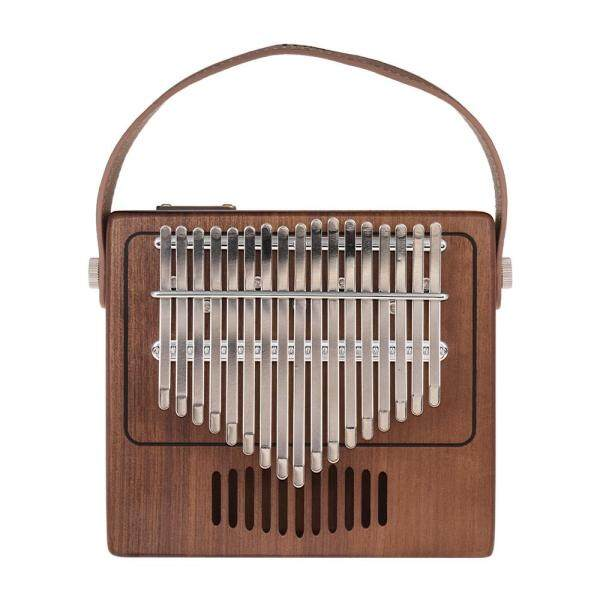Tom 17-Key Thumb Piano Kalimba Mbira Sanza Walnut Solid Wood with Carry Bag Musical Note Stickers Tuning Hammer Strap Musical Gift