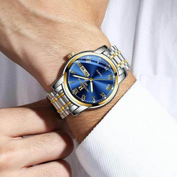 ontheedge brand womens luxury gold blue wristwatches quartz stainless steel business women watch ladies woman watches waterproof Malaysia