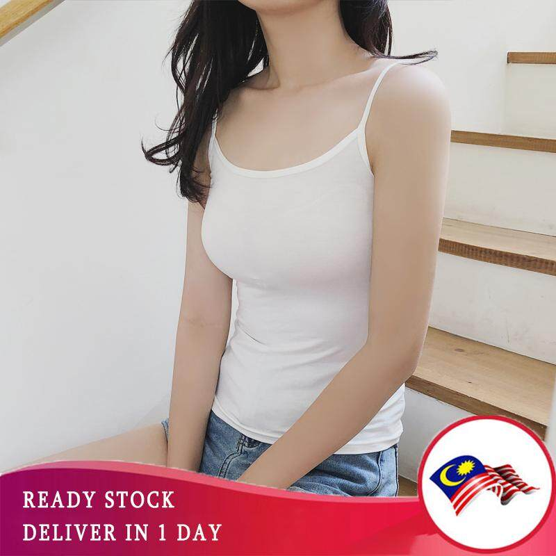8a72e13723 [BLACK N WHITE] Women Stretch Singlet Camisole Plain Color Tank Top  Underwear in Free