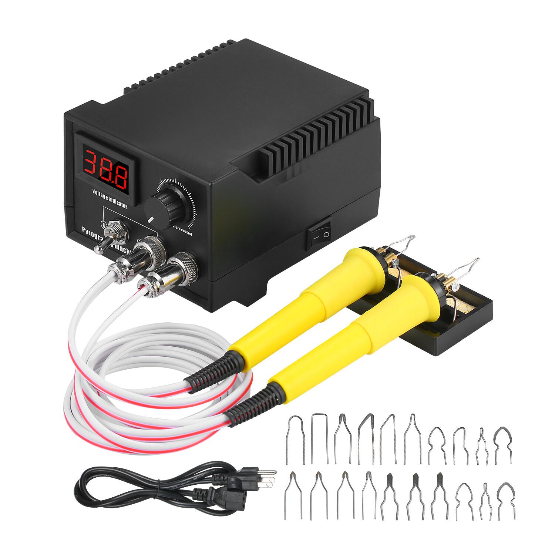 60W Adjustable Wood Burning Tool Pyrography Machine Digital Display 110V//220V