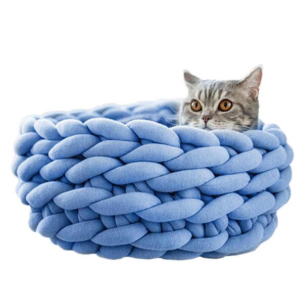 Ổ Nằm Sưởi Ấm Cho Mèo Cưng, Đồ Dùng Cho Thú Cưng, Giường Ngủ Thoáng Khí, Có Đệm Mềm, Dùng Cho Mèo