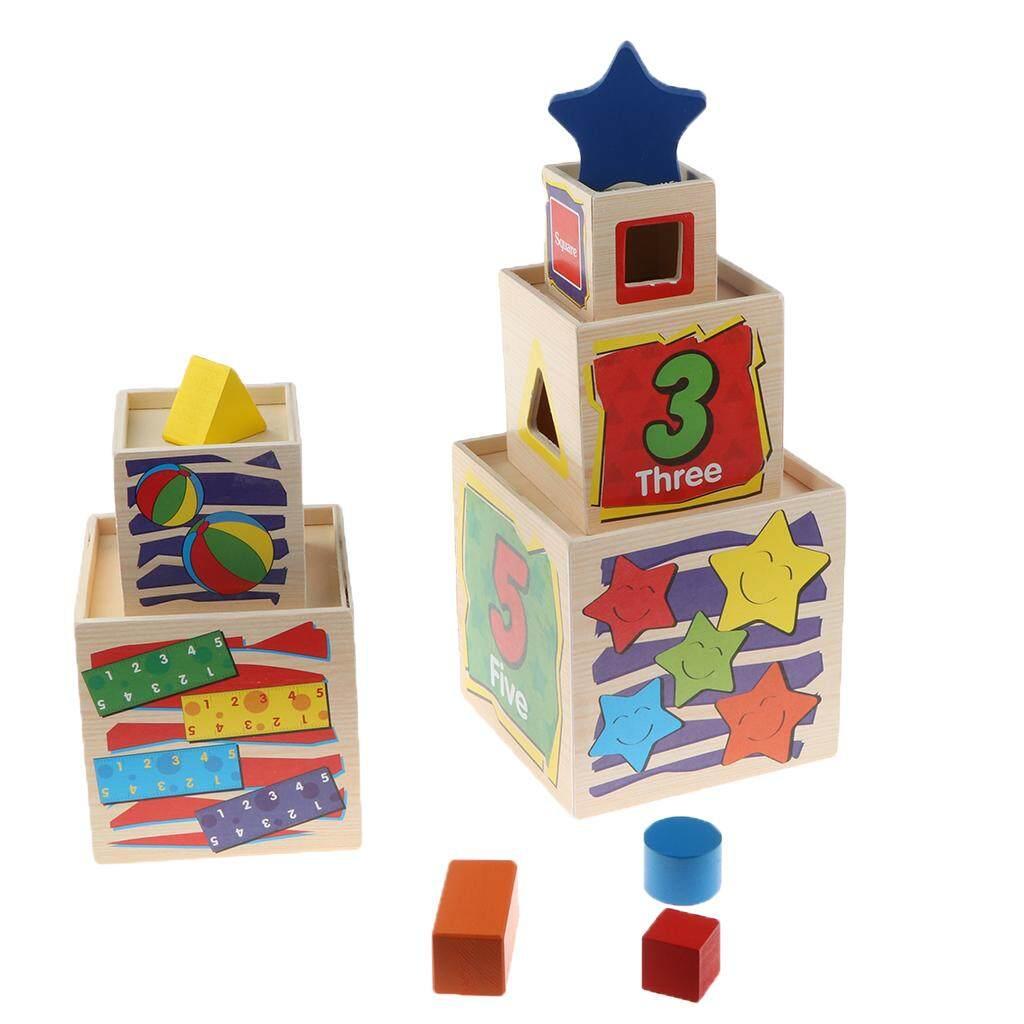 BolehDeals Wooden Geometric jigsaw puzzle Montessori Toys Educational Wisdom Kids
