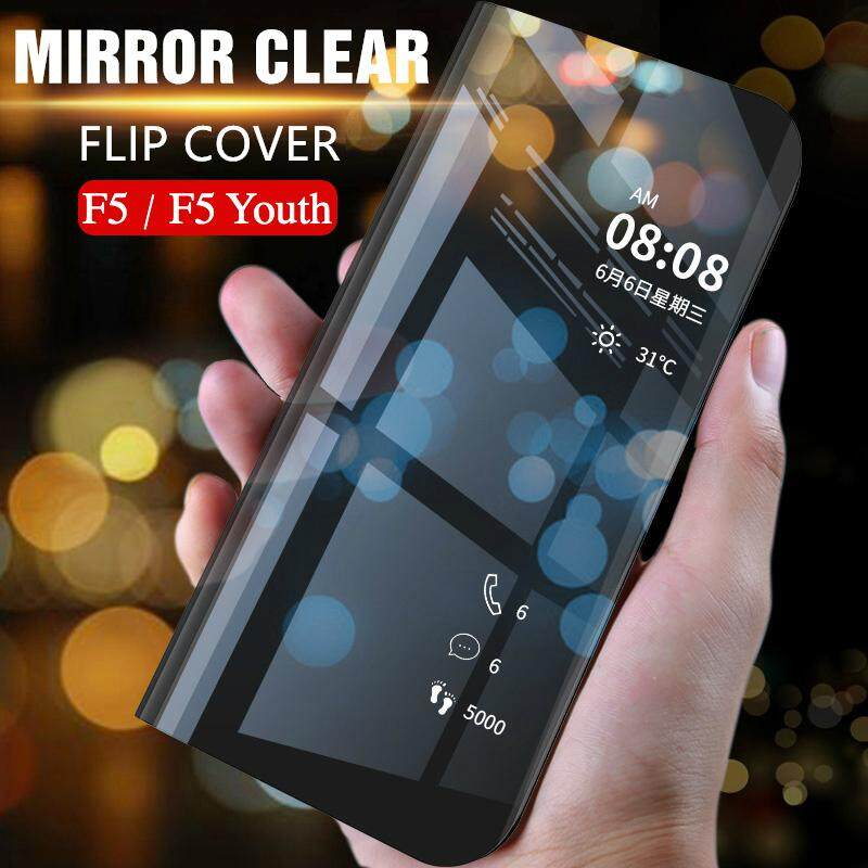 size 40 9c835 6960c Smart Mirror Case for OPPO F5 Flip Cover Dressing Mirror Phone Cases for F5  F5 Youth Casing Housing