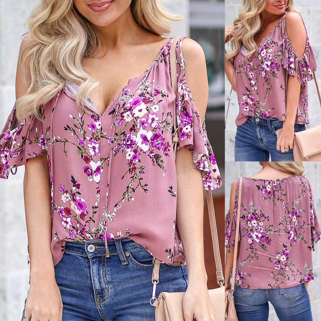 Blouses & Shirts Loyal 2018 New Summer Sexy Women Tops Fashion Slash Neck Ladies Lace Up Bow Blouse Embroidery Hollow Out Floral Off Shoulder Shirts
