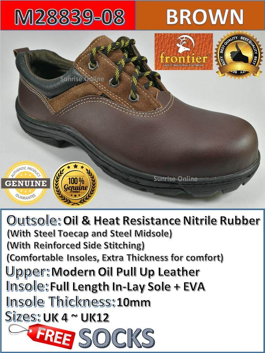 FRONTIER SAFETY SHOES - LOW CUT [DURABLE, HEAVY DUTY, COMFORTABLE, LIGHT WEIGHT, INDUSTRIAL USE, BEST QUALITY] [KASUT SAFETY YANG TERBAIK]