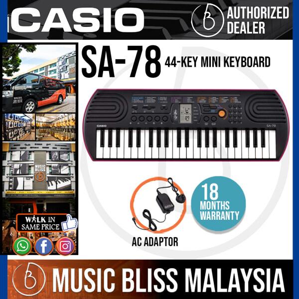 Casio SA-78 Mini Keyboard - Pink (SA78) *Crazy Sales Promotion* Malaysia