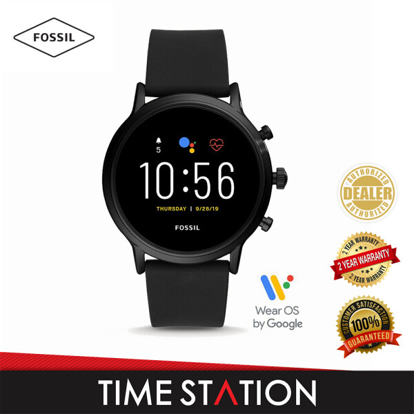 Fossil The Carlyle Gen 5 HR Black Silicone Mens Smart Watch FTW4025 Malaysia