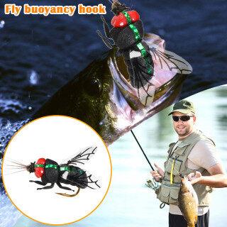 Miễn Phí Vận Chuyển, Fly Móc, Mồi Nổi Móc Câu Cá Bằng Ruồi Nhân Tạo Ngư Cụ thumbnail