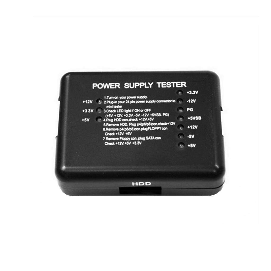 Giá Baoblaze Máy Tính PC Máy Tính Thiết Bị Kiểm Tra Nguồn Điện 20/24Pin Cho PSU ATX Bộ SATA HDD Mete Tester