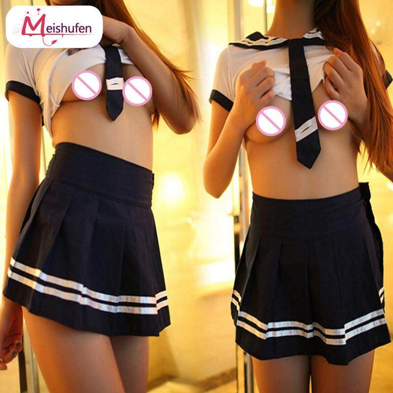 Meishufen Sexy Women Uniform Costume Cosplay Sailor Suit Dress Air Hostess Schoolgirl Secretary Maid Clothes