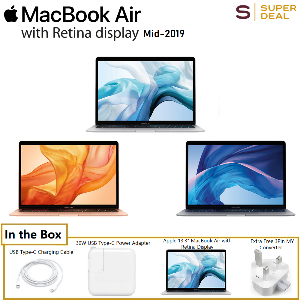 (Mid 2019) Apple 13.3  MacBook Air with Retina Display (128GB) Malaysia