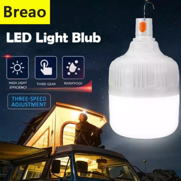 Bảng giá Breao Bóng Đèn LED Cầm Tay 450W 350W 260W 180W 40W Đèn LED Chợ Đêm Sạc USB Đèn Khẩn Cấp Không Thấm Nước, Đèn Lều Cắm Trại Ngoài Trời