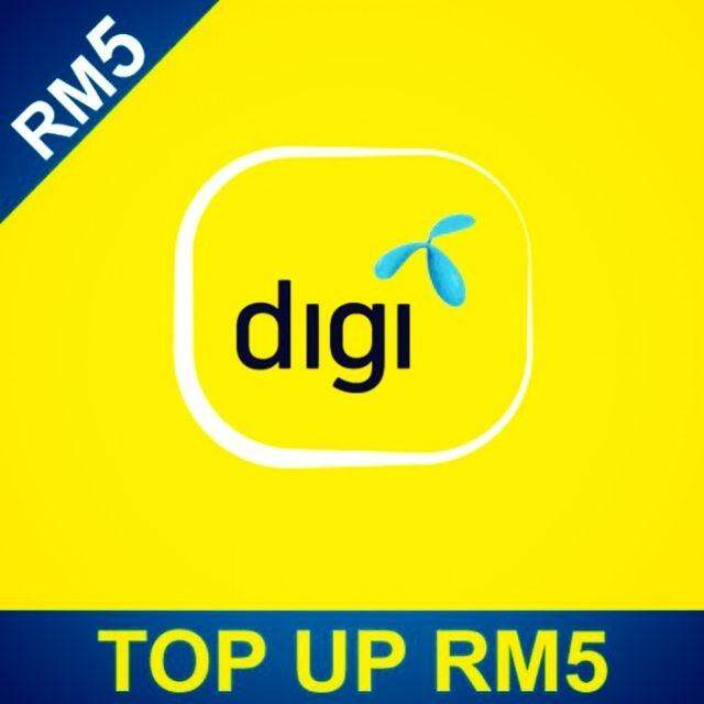 Digi Prepaid Reload Rm5 By Ariestore.