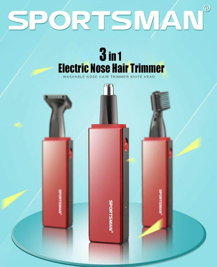 Men's professional 3 in 1 Mini Electric Shaver & Nose Hair beard Trimmer Portable Ear Nose Hair Shaver Clipper Personal Face Care Cleaner Tool For Bathroom