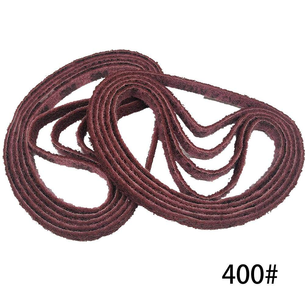 10 PCS 560 x 10mm 400 Grits Polishing Nylon Belt Sand Belt for Stainless Steel Wood Polishing Deburring