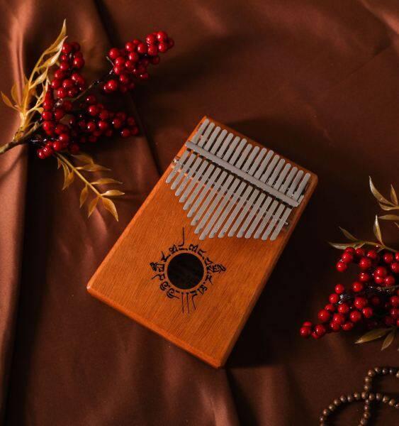 🔥Ready Stock🔥 BMNETWORK Beginner 17 Keys Mahogany Kalimba Thumb Piano Acoustic Finger Piano Music Instrument Wood Kids Learning Educational Full Set FREE Storage Pouch Malaysia