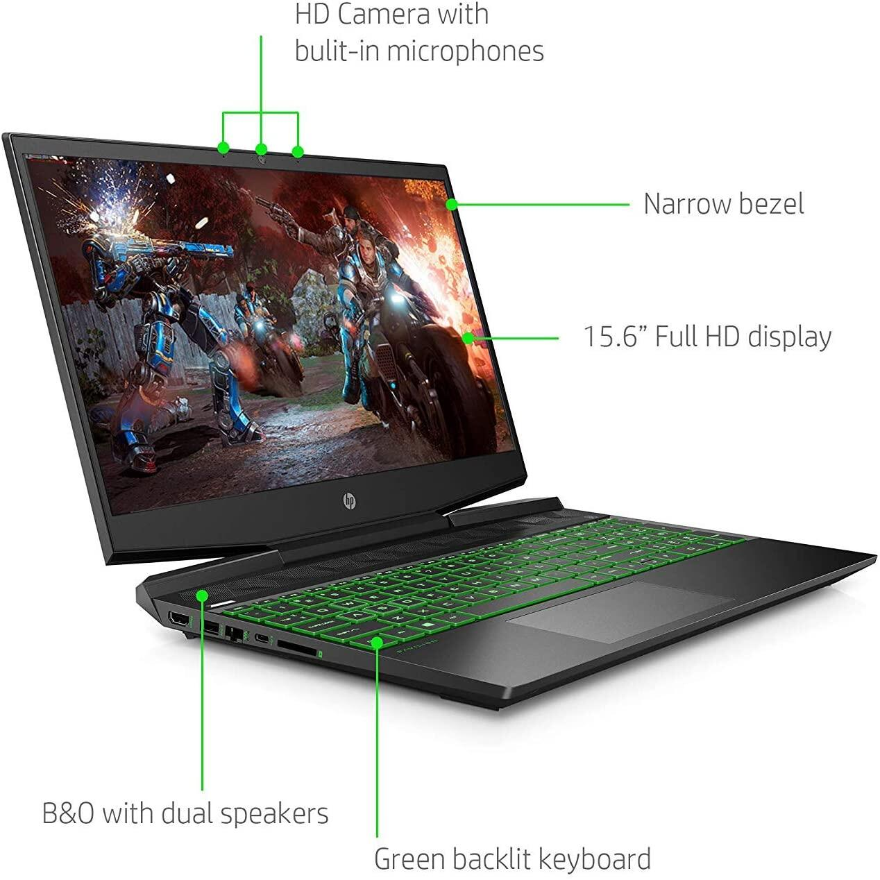 HP Pavilion Gaming Laptop 15.6 IPS FHD, Core i5-9300H up to 4.10 GHz, GTX 1050, 12GB RAM, 256GB SSD+1TB HDD, Backlit, USB-C (DP 1.4), RJ-45 LAN, Wi-Fi 5, Webcam, Win 10, Sea of Thieves Malaysia
