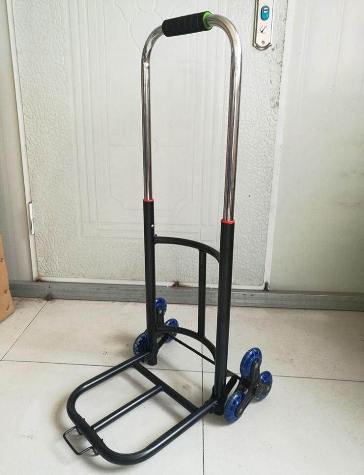 READY STOCK Heavy Duty 6 Wheels Portable Foldable Extendable Climb Stairs Hand Truck Trolley