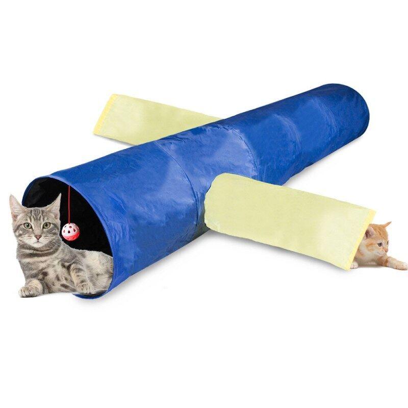 Sáng Tạo Đồ Chơi Cho Thú Cưng Mới Mèo Làm Giảm Nghẹt Thở Móc Điện Thoại Quyển Sách Có Phát Âm Thanh Câu Đố Ba Kênh Mèo Khoan Xô Có Thể Gập Lại Kênh