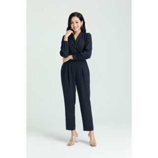 Áo liền quần lụa cổ 2 ve IVY moda MS 18C5008 thumbnail