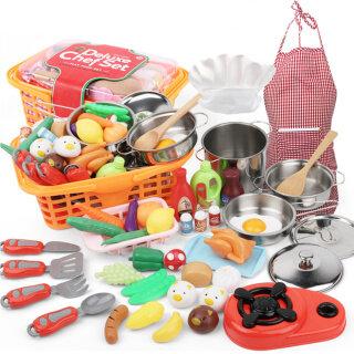 Đồ Chơi Nhà Bếp Giả Vờ, Bộ Nồi Và Chảo Nấu Ăn Đồ Chơi Nhà Bếp Đồ Ăn Vui Chơi Cắt Cho Trẻ Em Bé Gái Bé Trai thumbnail