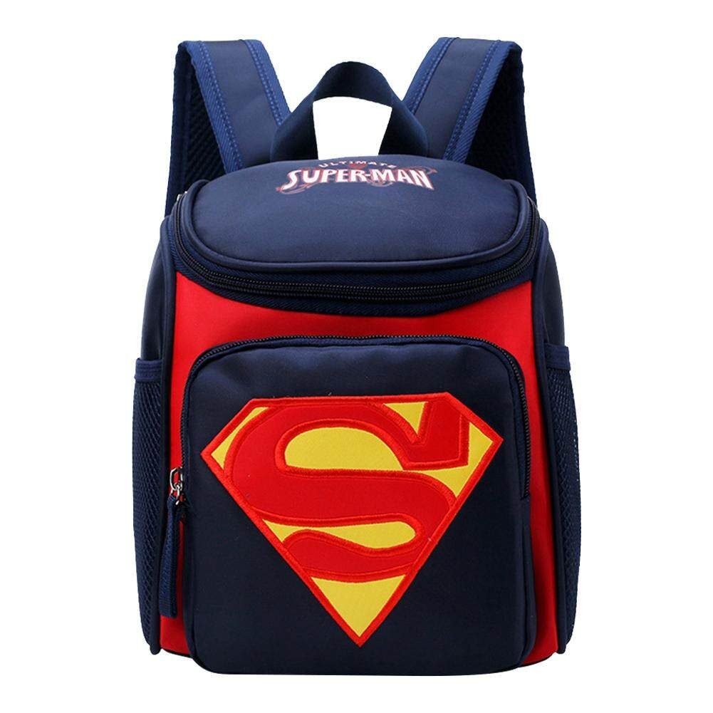 【limited Promotion】cherishone Fashionable Cute Cartoon Superman Kindergarten Kids Schoolbag Children Backpack By Cherishone.