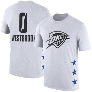 Áo Phông Bóng Rổ Tay Ngắn Oklahoma City Thunder, NBA-STAR Áo Phông Thường Ngày Thể Thao Cổ Tròn Tập Thể Dục Bóng Rổ Russell-Westbrook thumbnail