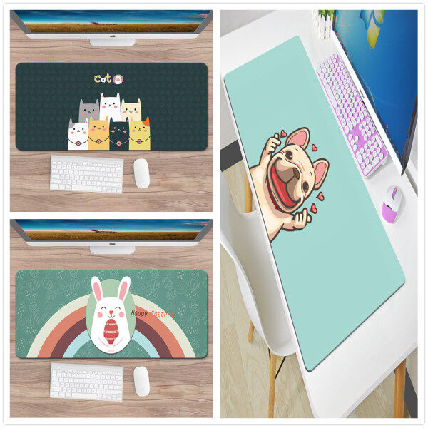 Cute Gaming Mouse Pad Extra Large XXL Gamer Keyboard Mousepad Waterproof Maus Pad Desk Mouse Mat Game accessories Malaysia