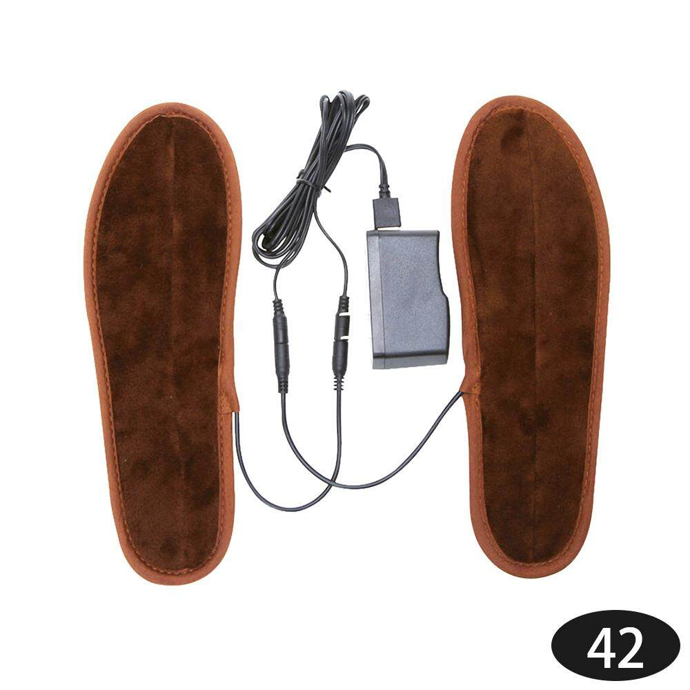 Epoch Heated Shoe Insoles Electric Foot Heated 2018 Brown Non Woven Home Furnishing Shoe 41-42 By Epoch.